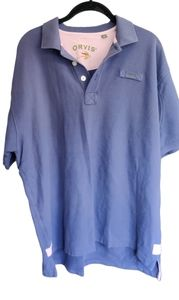 Vintage Orvis Signature Polo Purple Rugby Large